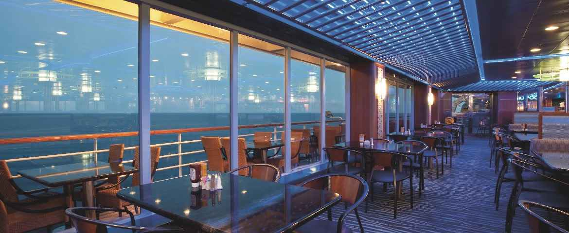 CCL Carnival Croisière Ecstasy Restaurant Panorama Bar and Grill